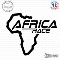 Sticker Africa Race Logo Sticks-em.fr Couleurs au choix