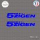 2 Stickers 5ZIGEN Sticks-em.fr Couleurs au choix