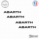 4 Stickers ABARTH