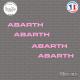 4 Stickers ABARTH Sticks-em.fr Couleurs au choix