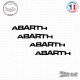4 Stickers ABARTH Courbe