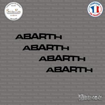 4 Stickers ABARTH Courbe