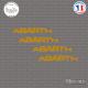 4 Stickers ABARTH Courbe Sticks-em.fr Couleurs au choix