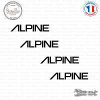 4 Stickers Alpine Sticks-em.fr Couleurs au choix
