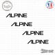 4 Stickers Alpine