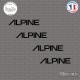 4 Stickers Alpine Sticks-em.fr Couleurs au choix