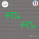 2 Stickers Alpine 60ème anniversaire Sticks-em.fr Couleurs au choix