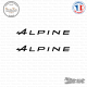 2 Stickers Alpine A