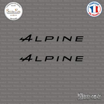 2 Stickers Alpine A