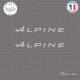 2 Stickers Alpine A Sticks-em.fr Couleurs au choix