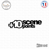 Sticker JDM + 10 Scene Points Sticks-em.fr Couleurs au choix
