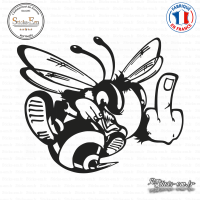 Sticker Abeille Fun Sticks-em.fr Couleurs au choix