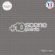 Sticker JDM + 10 Scene Points Sticks-em.fr Couleurs au choix