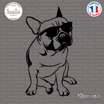 Sticker Bouledogue Ray Ban