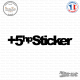 Sticker JDM +5hp Sticker Sticks-em.fr Couleurs au choix