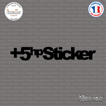 Sticker JDM +5hp Sticker