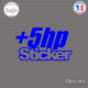 Sticker JDM +5hp-Sticker sheared Sticks-em.fr Couleurs au choix