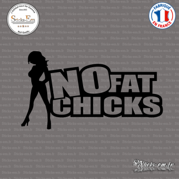Sticker No Fat Chicks