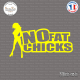 Sticker No Fat Chicks sticks-em.fr