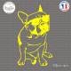 Sticker Bouledogue Ray Ban Sticks-em.fr Couleurs au choix
