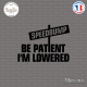 Sticker JDM be patient i'm lowered Sticks-em.fr Couleurs au choix