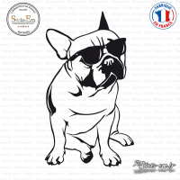 Sticker Bouledogue Ray Ban sticks-em.fr