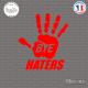 Sticker JDM Bye Haters Sticks-em.fr Couleurs au choix