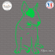 Sticker Bull-Terrier Sticks-em.fr Couleurs au choix