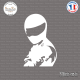 Sticker JDM The Stig Sticks-em.fr Couleurs au choix