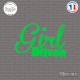 Sticker JDM Girl Driven Sticks-em.fr Couleurs au choix