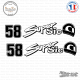 2 Stickers SUPERSIC 58
