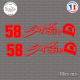 2 Stickers SUPERSIC 58 Sticks-em.fr Couleurs au choix