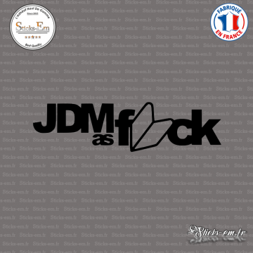 Sticker JDM as-fck