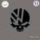 Sticker JDM Volkswagen Skull Sticks-em.fr Couleurs au choix