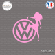 Sticker JDM Volkswagen Chick Sticks-em.fr Couleurs au choix
