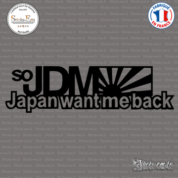 Sticker JDM Japan Want Me Back