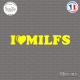 Sticker JDM I Love Milfs Sticks-em.fr Couleurs au choix
