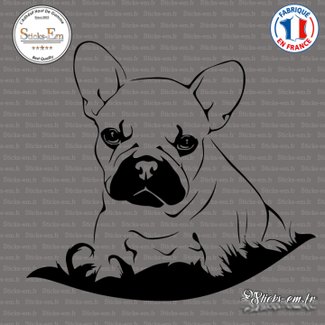Sticker Bouledogue chiot