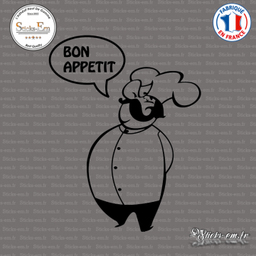 Sticker Chef Bon Appetit