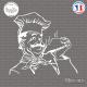 Sticker Chef Gourmand Sticks-em.fr Couleurs au choix