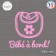 Sticker Bebe a bord bavoir sticks-em.fr