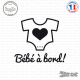 Sticker Bebe a bord body Sticks-em.fr Couleurs au choix