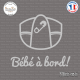 Sticker Bebe a bord couche Sticks-em.fr Couleurs au choix