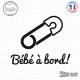 Sticker Bebe a bord epingle sticks-em.fr