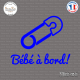 Sticker Bebe a bord epingle Sticks-em.fr Couleurs au choix