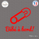 Sticker Bebe a bord epingle sticks-em.fr