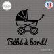 Sticker Bebe a bord landeau sticks-em.fr