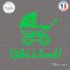 Sticker Bebe a bord landeau Sticks-em.fr Couleurs au choix