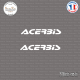 2 Stickers Acerbis Sticks-em.fr Couleurs au choix
