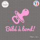 Sticker Bebe a bord tetine Sticks-em.fr Couleurs au choix